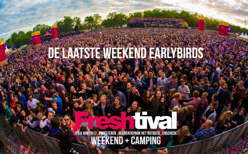 Weekend earlybird tickets bijna uitverkocht!